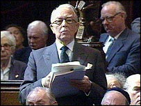 Lord Shawcross speaking in the House of Lords