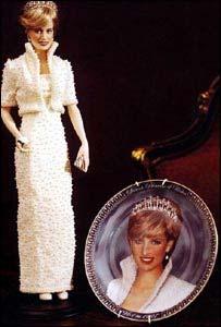 Franklin Mint Diana doll and jewellery