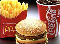 Big Mac, French fries and Coca Cola