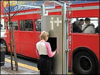 An iplus Kiosk, Cityspace