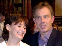 Cherie and Tony Blair