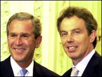 Blair with George W Bush