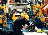 Workers on the factory floor