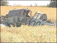 The crash scene on Saturday