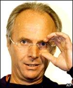 Sven Goran Eriksson, entrenador del equipo de futbol inglés.