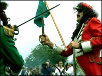 The battle re-enactment at Scarva in 2000