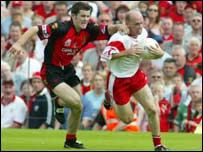 Peter Canavan scored Tyrone's goal from the penalty spot