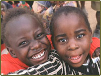 Zambian children orphaned by Aids
