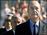 Jacques Chirac and Jean-Pierre Raffarin
