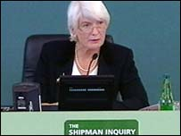 Dame Janet Smith, chair of the Shipman Inquiry