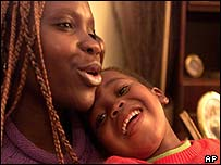 Ingrid Kealotswe and her son Onilegape, both HIV-positive, Botswana