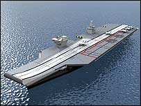 Artist's impression of the new carrier