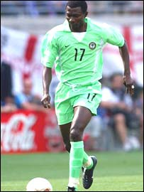 Nigeria forward Julius Aghahowa