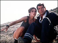 Pierce Brosnan with Denise Richards in James Bond