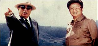 Father and son: Kim Il-sung & Kim Jong-il