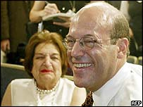 Ari Fleischer with Helen Thomas