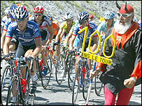 The Tour devil cheers on the likes of Lance Armstrong up Alpe d'Huez