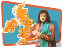 Scorchio, the Fast Show weather girl