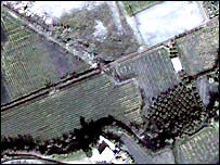 Satellite image of vineyards