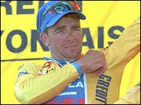 Sean Yates dons the yellow jersey back in 1994
