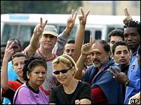 Supporters of Cuba's dissidents
