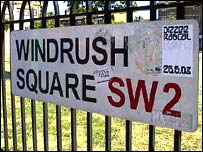 Windrush Square, named after the first ship to bring Caribbean workers to the UK in 1948