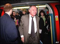 Mayor Ken Livingstone on the Tube