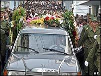 Segundo's funeral procession in Santiago de Cuba