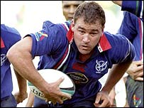 Quin Hough in action for Namibia at the last World Cup