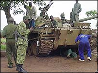 Uganda troops