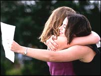Students celebrate exam results