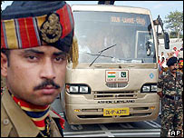 The Delhi-Lahore bus crosses the border into Pakistan