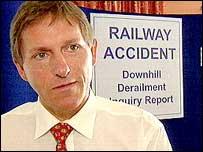 Railway inspector Gerald Kerr