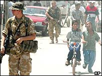 Soldiers on the streets of Baghdad