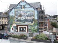 Mural at Builth Wells