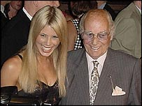 Carry On founder Peter Rogers with model Jo Lawden