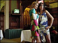 Actresses Chloe Bailey (left) and Princess Tamara Czartoryski-Borbon in the House of Commons