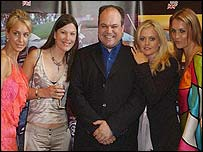 Soap star Shaun Williamson with his new co-stars