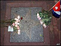 Celia Cruz's star in Miami