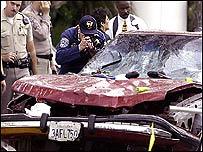 Detectives arrive at the crash scene