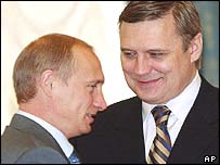 Vladimir Putin and Mikhail Kasyanov