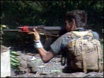A guerrilla fighter in El Salvador