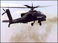 CH-64 Apache helicopter