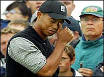 Tiger Woods at Sandwich