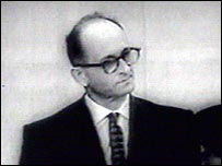 Adolf Eichmann on trial in Israel