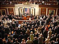 Standing ovation from Congress