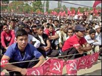 Maoist rally in Nepal
