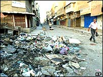 Rubbish in Baghdad street
