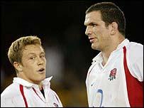 Jonny Wilkinson and Martin Johnson
