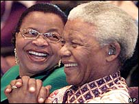 Nelson Mandela and his wife, Graca Machel